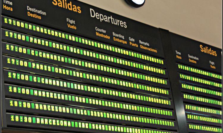 Quadro de embarque Espanha