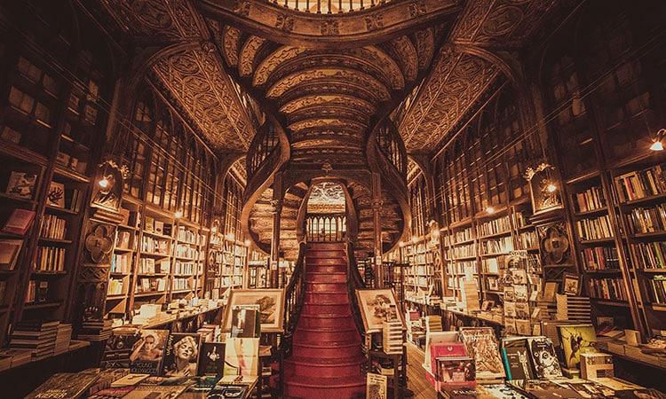 Interior da Livraria Lello