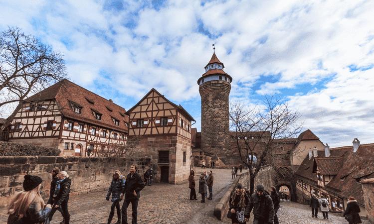 Castelo imperial de Kaiserburg em Nuremberg