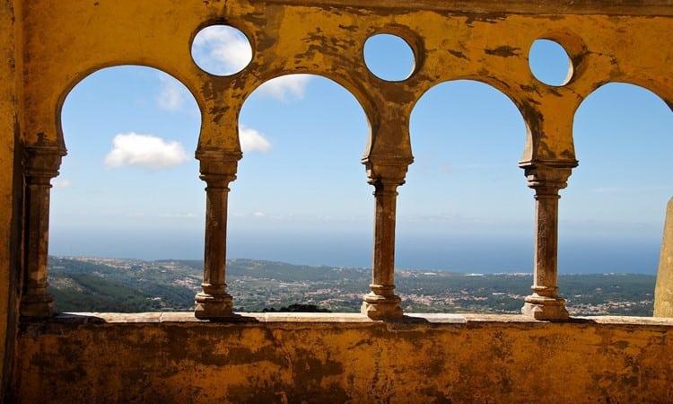 castelo dos mouros em sintra vista