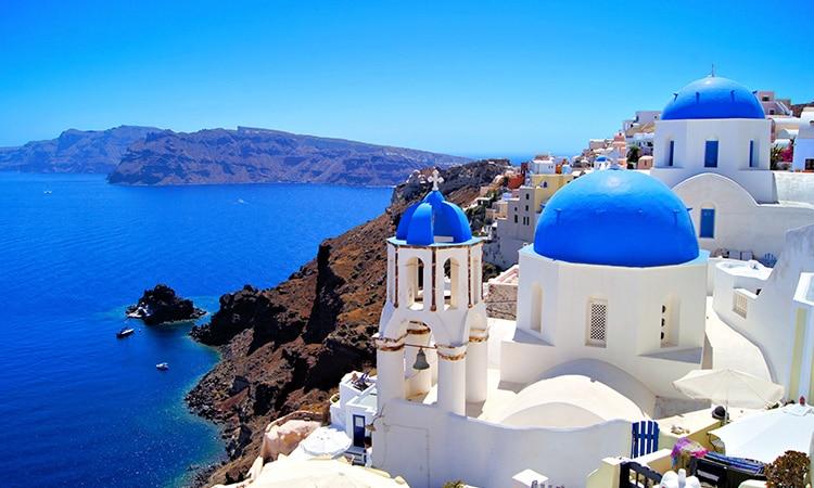 santorini casas azuis