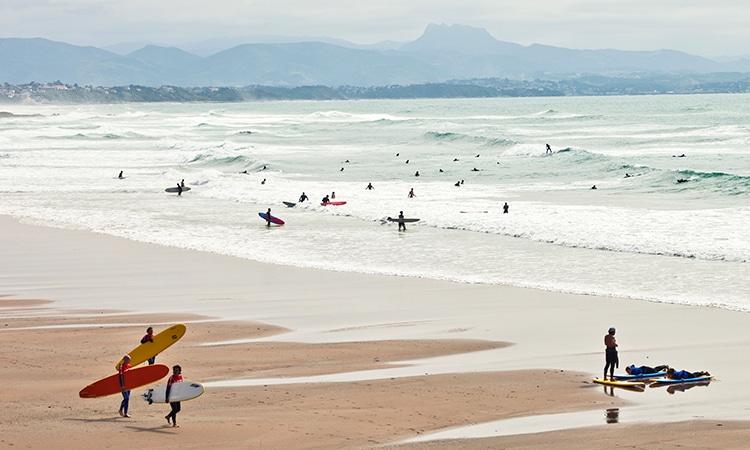 biarritz praia