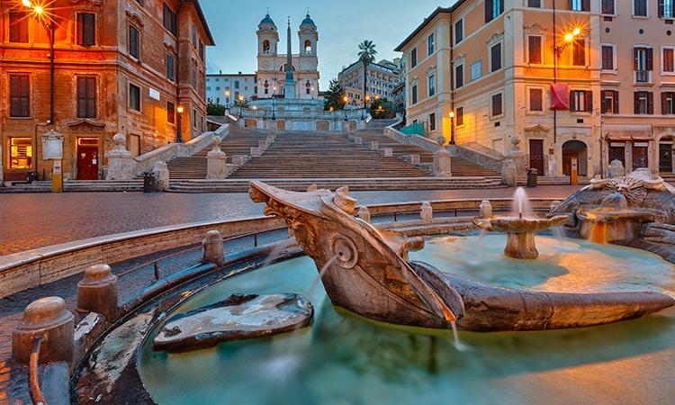 fontes de roma fontana della barcaccia