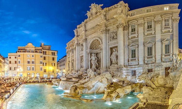 fontes de roma fontana di trevi