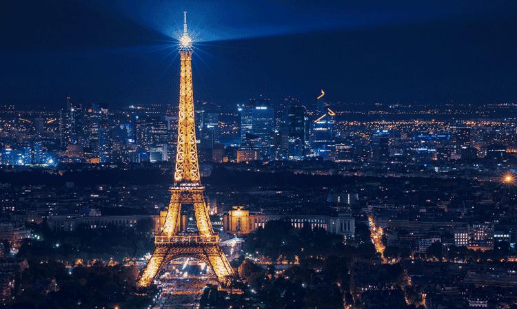 Vista panoramica de paris