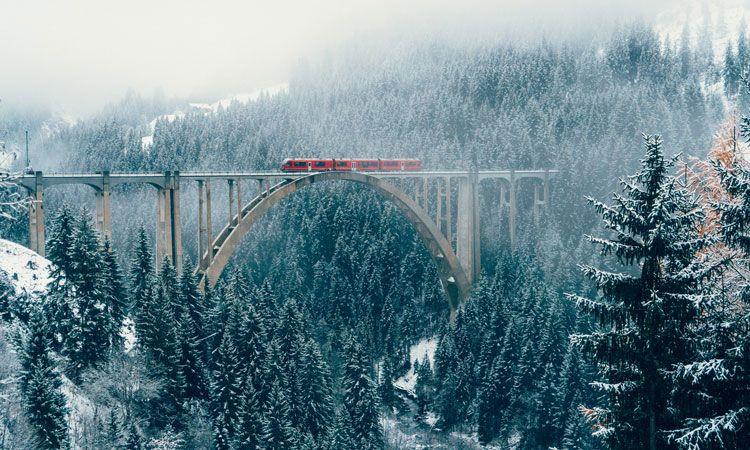 como chegar nos alpes suicos