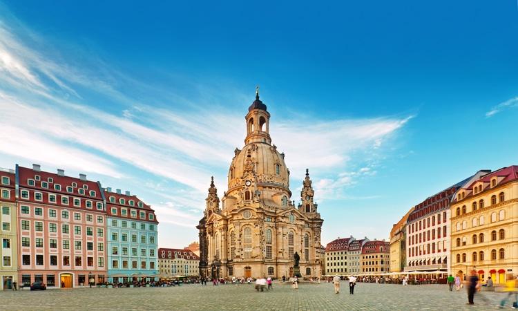 Centro de Dresden na Alemanha