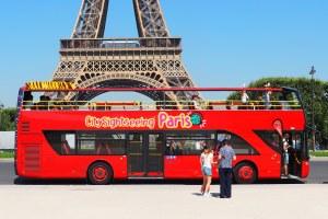 ônibus de turismo em Paris