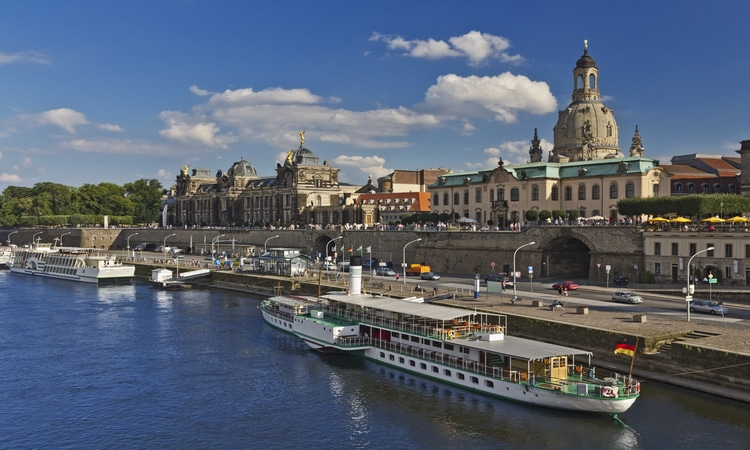 Rio Elba em Dresden