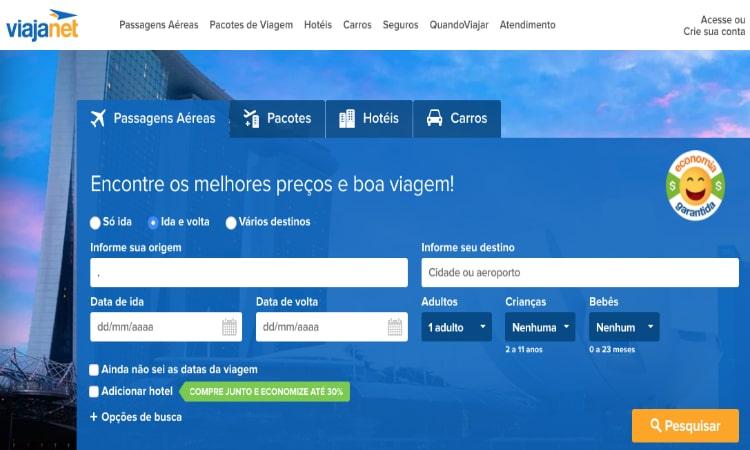 ViajaNet site