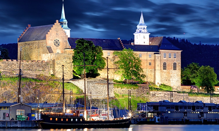 Oslo na Noruega Forte de Akershus