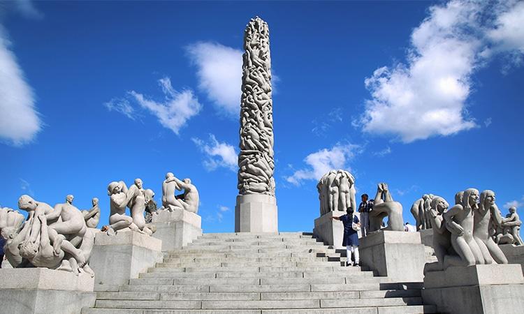Oslo na Noruega Parque Vigeland