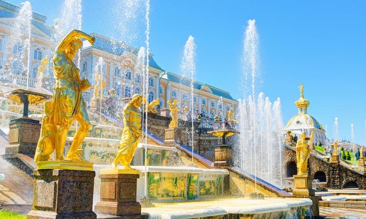 cascata em Peterhof