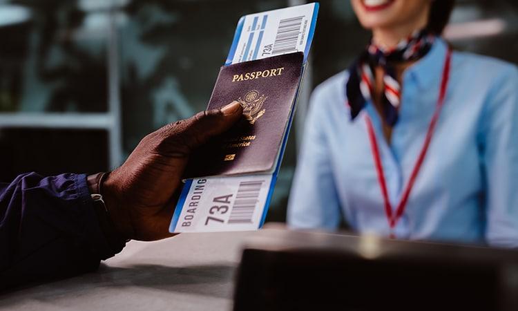 passagem aérea para Inglaterra passaporte