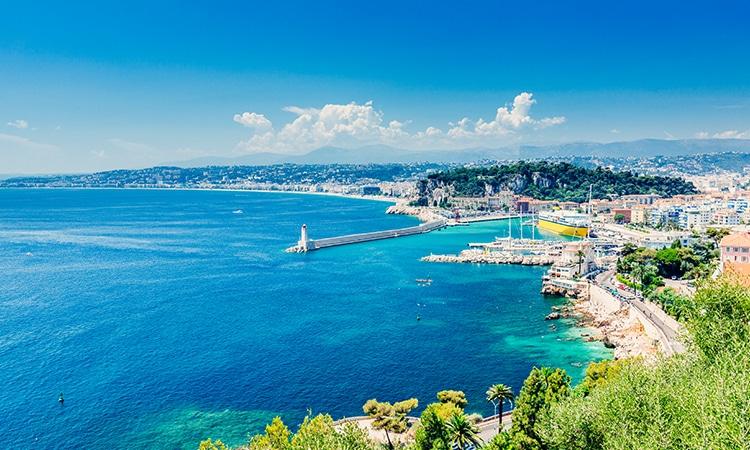 Pontos turísticos da França Costa Azul Nice