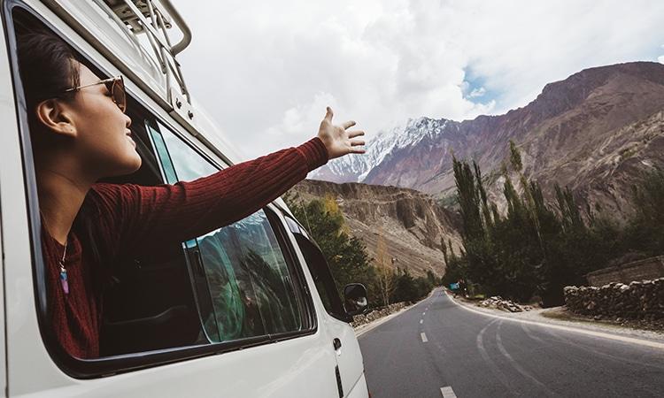 road trip na Europa montanha