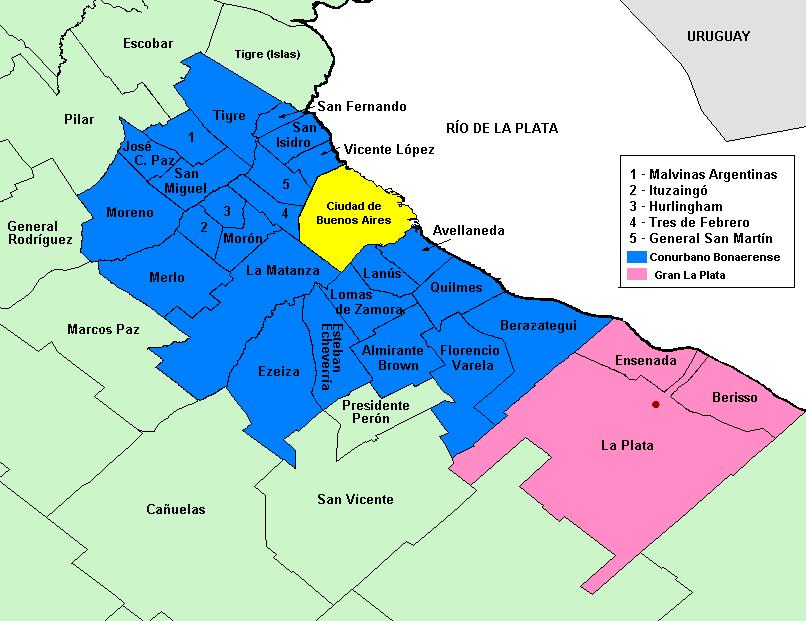 Mapa de Buenos Aires  Cmo llegar a la capital de Argentina