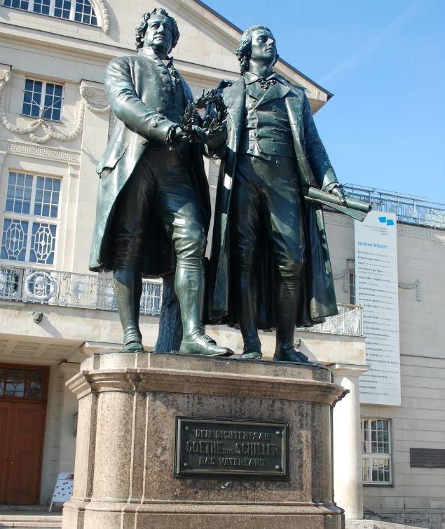 De visita en Weimar, el jardín de Goethe
