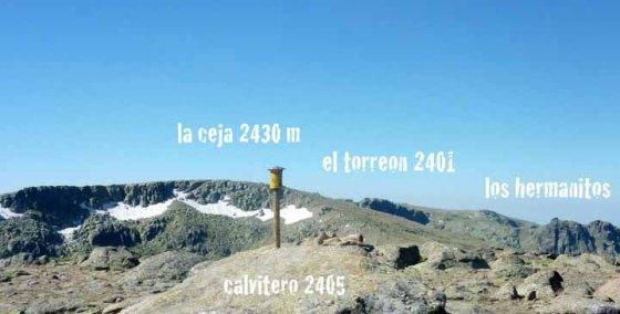 senderismo al pico del Calvitero