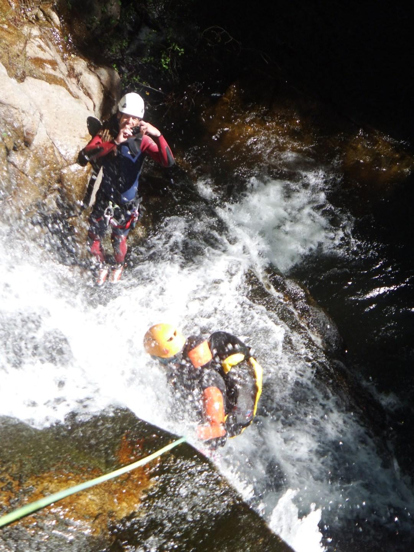 Ultimo Rapel, Barranco de las Nogaleras, en el Valle del Jerte, Caceres.