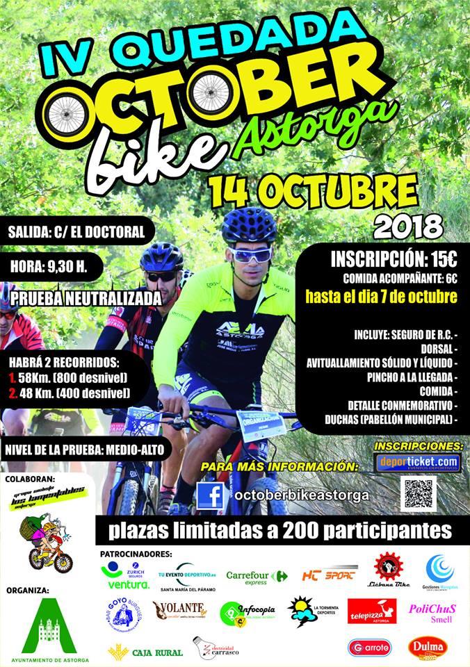 14 de octubre llega la October Bike