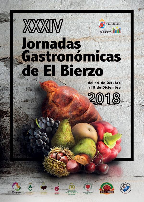 Cartel Jornadas Gastronómicas del Bierzo 2018