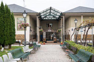 Patio del albergue de peregrinos en Ponferrada