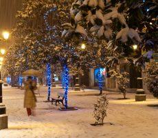 Ponferrada nevada en Navidad