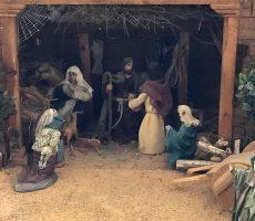 Belén artesanal de Navidad