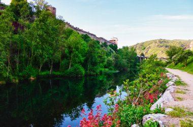 Río Sil a su paso por el Castillo de los Templarios