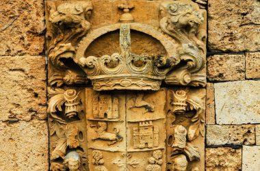 Detalle blasón San Pedro de Montes
