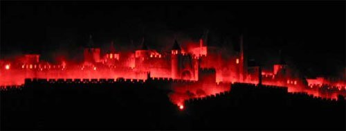 Carcassonne en llamas