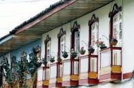 Balcones tipicos de la arquitectura paisa