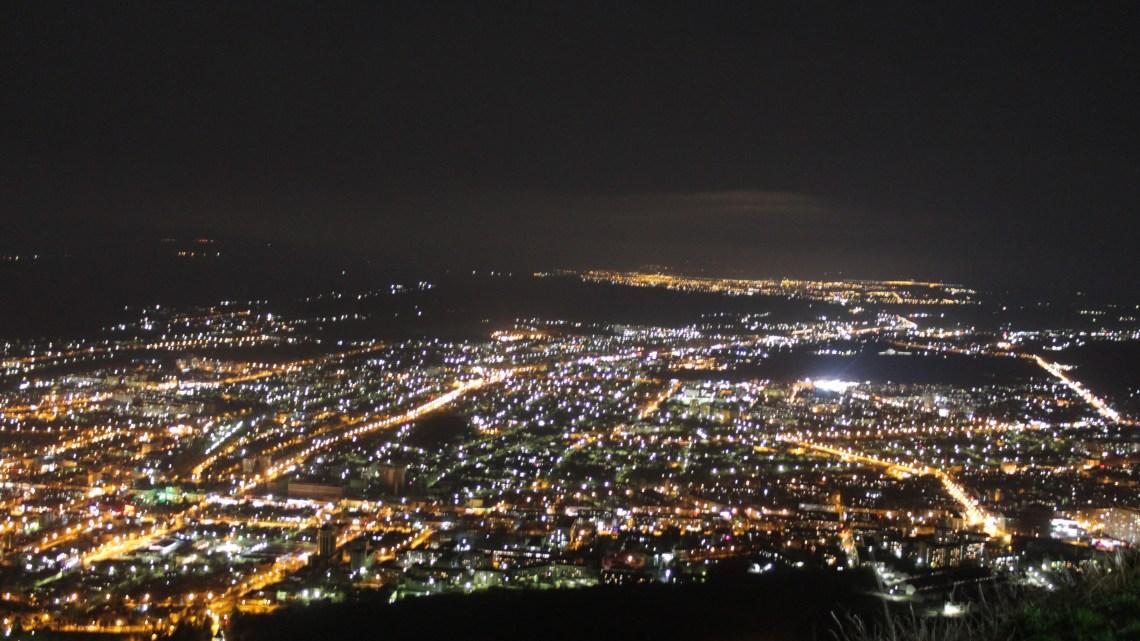 Ночной Пятигорск с вершины Машука