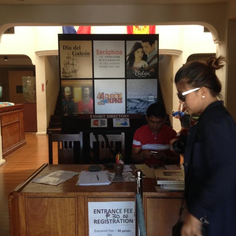 Entrance Fee Collected before entering Museo de Baler - Aurora Province | Turista Boy