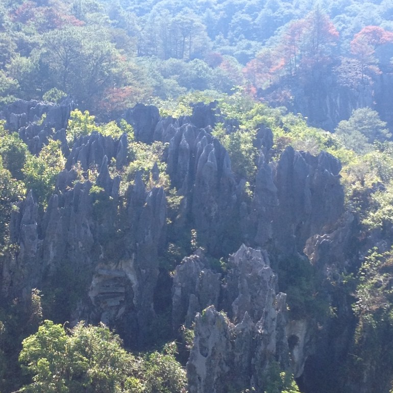 Limestone Rock Formations around Sagada