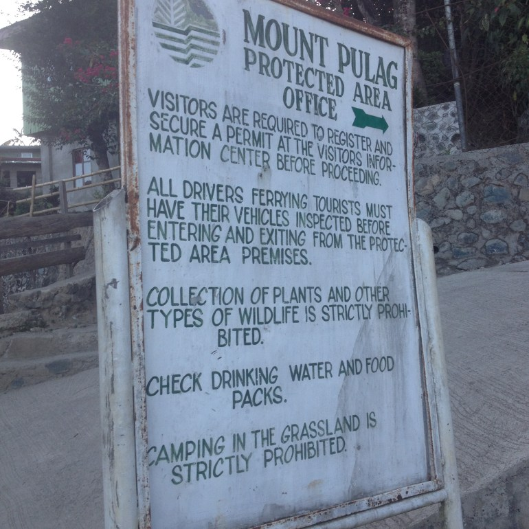 Outside the DENR Protected Area Office - Mount Pulag