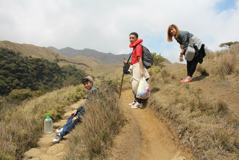 Trekking from Station Two to Station Three - Mount Pulag