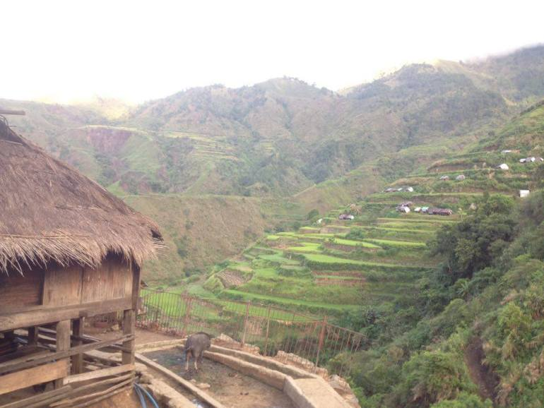 View from our room in Tinglayan, Kalinga