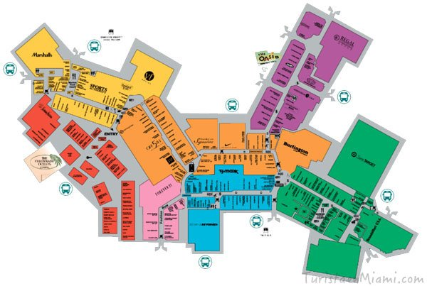 Mapa Sawgrass Mall