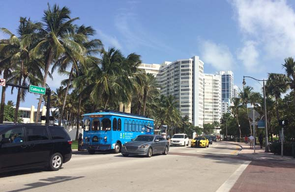 Trolley en Miami Beach