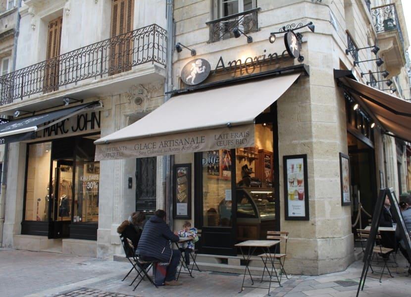 Filial da Amorino no centro de Bordeaux.