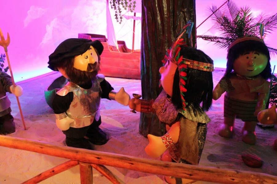 O Reino do Chocolate em Gramado possui um Museu do Chocolate com bonecos interativos.