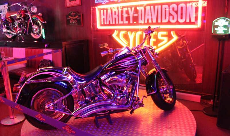 Moto Harley Davidson exposta no Harley Motor Show em Gramado.