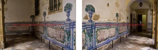 Restos de azulejos internos da faculdade 1024x328 A cidade universitária de Coimbra