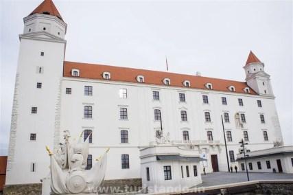 Visitando o castelo de Bratislava