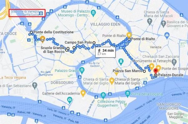Roteiro 1: ida até Piazza San Marco