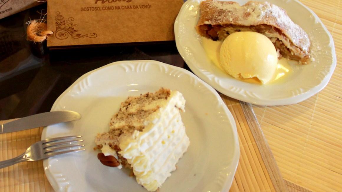 Restaurantes em Rolândia: Frango à parmegiana e torta alemã.