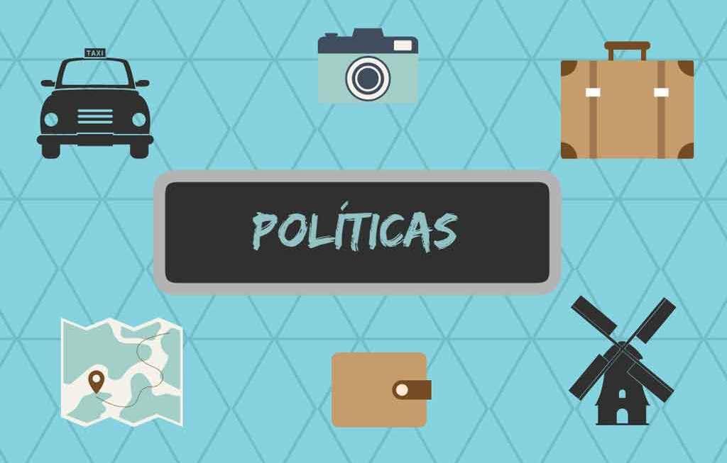 Políticas de contas e comentários.