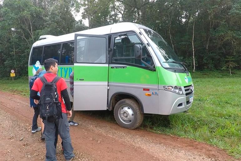 Transporte no Hotel Fazenda Itáytyba em Tibagi.